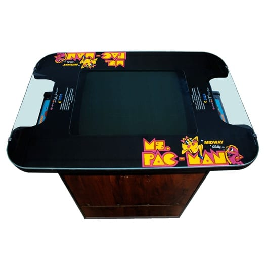 Pacman Table Game >> New Ms Pacman Cocktail Table