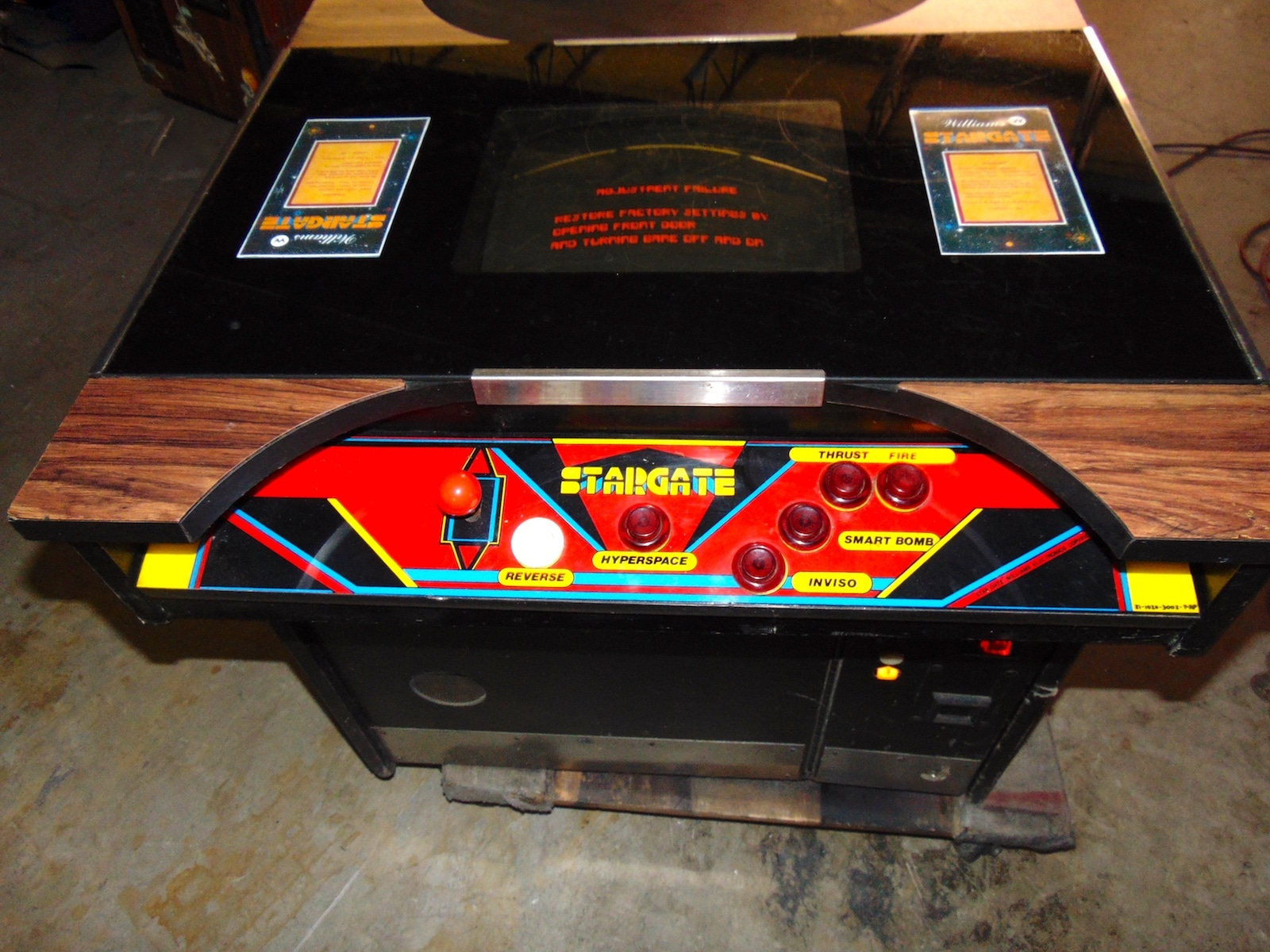 Star Gate Cocktail Arcade Game